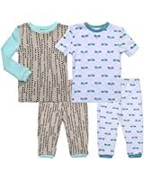 Asher and Olivia 18 Month Boy Pajamas Clothes Pjs Set Sleepers Baby Toddler Footless Sleepwear Pj