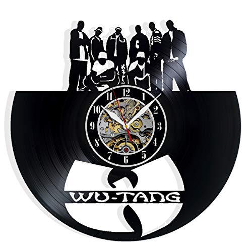 Wu Tang Vinyl Record Wall Clock Art Home Decor Interior Design Best Gift for Fans Room Wall Art