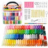ESANDA Polymer Clay Starter Kit, 88 Colors 0.88 oz/Block Oven Bake Clay, Baking Modeling Clay, 14 Modeling Tools, Accessories, Nontoxic DIY Clay, Ideal DIY Art and Craft Gift for Artists & Kids