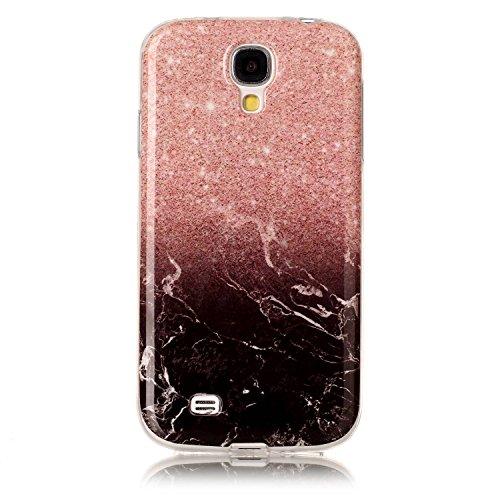 Karomenic Silikon Hülle kompatibel mit Samsung Galaxy S4 Ultra Slim Dünn Schutzhülle Marmor Muster Weiche TPU Handyhülle Stoßfest Kratzfest Stoßfest Bumper Case Cover Tasche Schale,Marmor#1
