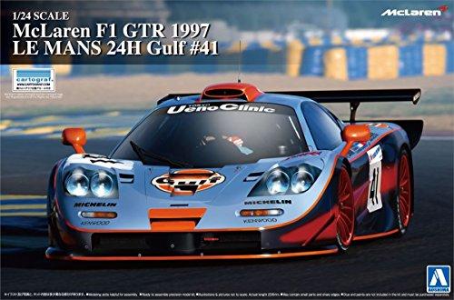 Aoshima Bunka Kyozai 1/24 Super Series Coche No.19 McLaren F1 GTR 1997 Le Mans 24 Horas golfo # 41 Modelo de plástico