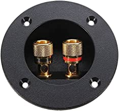 PIXNOR DIY Home Car Stereo 2-Way Speaker Box Terminal Binding Post Round Screw Cup Connector Subwoofer Plug (Black)