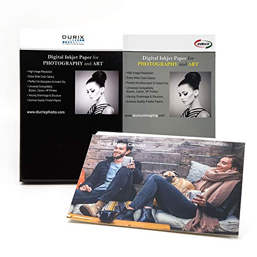 DURICO Décor Matte Canvas 340GSM Woven Fabric Fineart Digital Inkjet Photo Paper (8.5' x 11', 20 sheets)