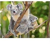 Amnogu 大人のためのジグソーパズル1000個コアラ動物Diy木製セット理想的なギフト、完璧な家の装飾