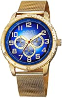 August Steiner Men's Casual Multifunction Watch - Dial with Big Numbers and Day of Week, Date, and 24 Hour Subdial on...