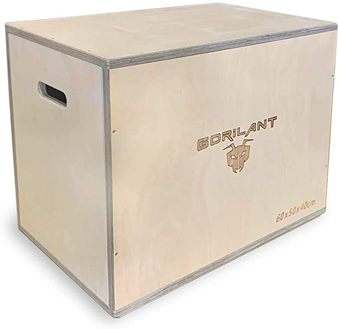 Gorilant - Cajon Pliometrico Madera BB, Entrenamiento Crossfit, Plyo Box, cajón para Saltos, tamaño S, M, L