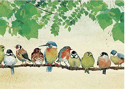 MXXHS 1000 Pieza Rompecabezas Pájaro En La Rama Jigsaw Puzzle para niños de Madera Juegos Casuales de Bricolaje Divertidos Juguetes de Regalo adecuados para Amigos Familiares 75x50cm