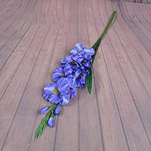 Silk Flower Arrangements 2020 New Realistic 1Pc Artificial Simulation Gladiolus Flower Stem Wedding Bouquet/Posy Table Arrangement Home Decor 8 Colors