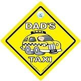 Dad 's Taxi Auto Zeichen, Dad 's Taxi Taxi, Papa 's Taxi, Auto, Taxi Schild, Baby on Board, Schild, Väter Väter, Taxi, Baby an Bord, Aufkleber, Bumper Aufkleber, Baby, Baby Auto Schild, Dad Sign Car
