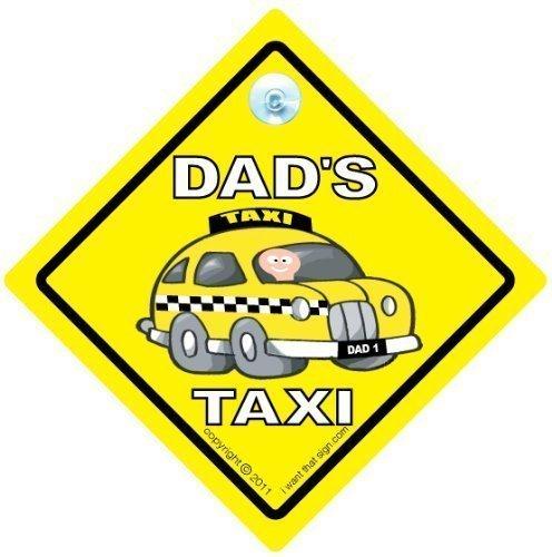 Señal de coche de papá, taxi de papá, taxi de papá, taxi de papá, taxi de papá, señal de coche, señal de taxi, señal de bebé a bordo, papá taxi, bebé a bordo, calcomanía de parachoques, señal