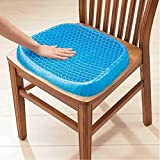 VYAPTI Silicone Flex Pillow Gel Orthopedic Seat Cushion Pad for Car, Office Chair, Wheelchair, or Home, Pressure Sore Relief, Ultimate Gel Comfort (Blue, Standard size)