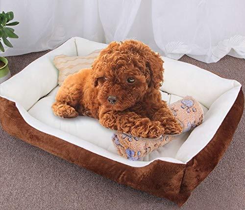Qiuge Hundekatze Bett Winter Weiche Warme Komfortable Memory Foam Pet Bett, Orthopädisches Hundebett und Sofa (mit abnehmbarem Maschinenabdeckung), Hundeknochenkissen als Geschenkgröße: XL, 90 × 70 ×