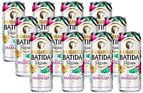 Mangaroca Batida Passion, 10{9224fb349674495497d247f5c217e6c54b90c5361e2d2bebfdec3a04ad635a0b} Alkohol (12 x 0,25l Dose) - Das Cocktail-Set für den Sommer: Der Kuss der Kokosnuss mit Maracuja