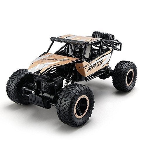 TOYEN GordVE Remote Control Cars,RC Rock Off-Road Vehicle 2.4Ghz 4WD Fast Speed Racing Cars-Gold