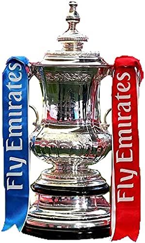 GJPSXTY Trofeo de Fan de la Copa FA de la Liga de Campeones de la UEFA, Trofeo de Resina, Recuerdos y coleccionables, Plata, 44 cm
