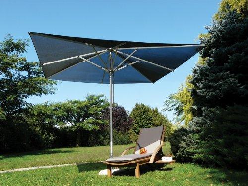 Maffei Art 168Q Pool. Parasol carré cm 300x300, Tissu BATYLINE. Made in Italy. Couleur Noir
