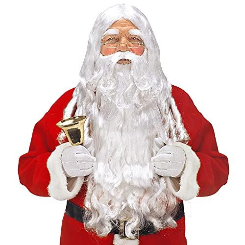 Parrucca Babbo Natale con barba, baffi e sopracciglia