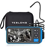 Teslong Industrial Endoscope with 4.5-inch Screen. Borescope Monitor with 5.5mm Waterproof Camera and 16ft (5m) Long Inspection Waterproof Cable -32GB Memary Card - Battery Included - Carrying Case
