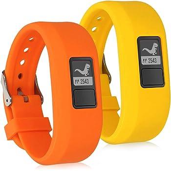 2 Fitnesstracker TPU Smartwatch Band jr 2x Sportarmband für Garmin Vivofit jr