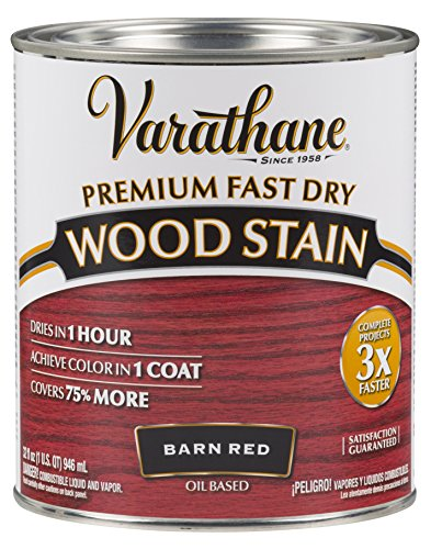 Varathane 307414 Premium Fast Dry Wood Stain, 32 oz, Barn Red