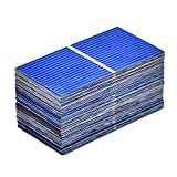 TOOGOO Caricabatterie Solare DIY 52X26Mm per Celle Solari un Energia Solare un Celle Solari da 100 Pezzi