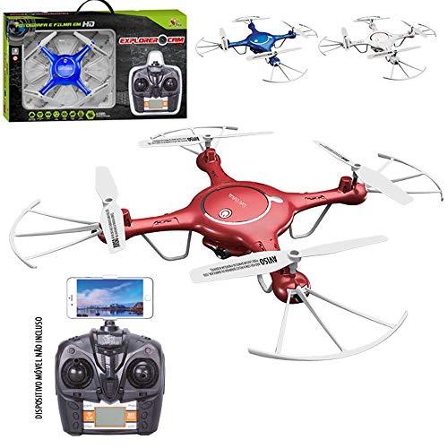 DRONE QUADRICOPTERO COM CAMERA WIFI FPV TRANSMISSÃO AO VIVO FILMA E TIRA FOTO EM HD PARA IPHONE IOS E ANDROID
