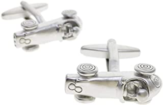 silver horse racing cufflinks
