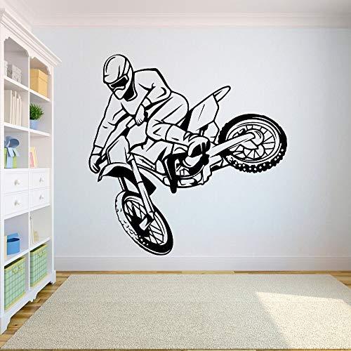Fotobehang off-road-motorfiets vrije stijl vuil fiets sticker slaapkamer sport off-road motorfiets persoonlijkheid jongen tieners kamer 57X61 cm