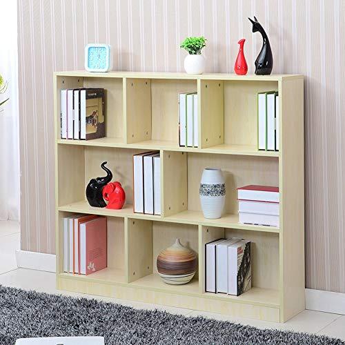 HM&DX Aufbewahrung Bücherregal 8 würfel, Holz Offenen Bücherschrank Veranstalter Schrank...