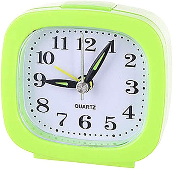 Vosarea Ultra Small Battery Travel Alarm Clock With Snooze And Light Silent With No Ticking Analog Quartz