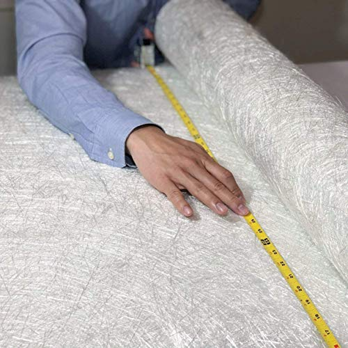Fiberglass Chopped Strand Mat Cloth 50' x 360' | 1 oz | 50 Inch Wide 10 Yard Long | CSM GRP | Molding Roofing Boat Marine Repair with E-Glass Fiber Roll | Resin & Epoxy Compatible