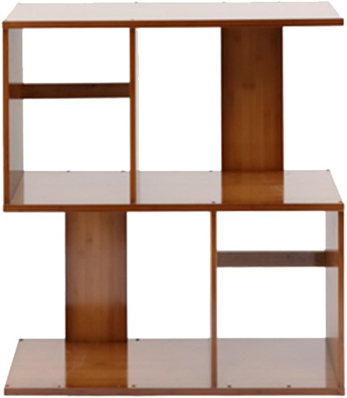 LQQGXLoffice Furniture Floor-Standing Bookshelf, Bamboo Shelf Office Decoration Frame Modern Minimalist Living Room partition (Size   60  24.5  68.5cm)