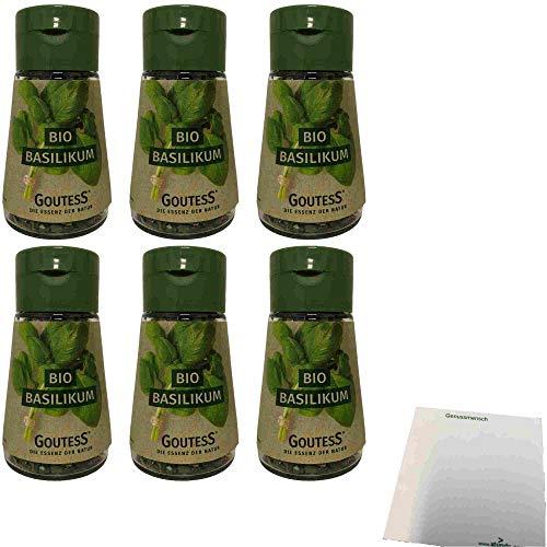 Goutess Bio Basilikum gefriergetrocknet 6er Pack (6x4g Streuer) + usy Block