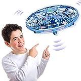 BASEIN UFO Mini Drohne, Infrarot Induktion Handgesteuerter Fliegender Ball, USB-Ladung Mini Drohnen für Kinder und Erwachsene, 5 LED-Leuchten, Spielzeug für Drinnen und Draußen, Geschenke für Kinder