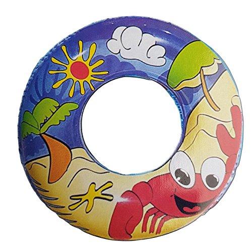 60 cm Neuheit Schwimmen Kinder Gummi Schwimmen Ring Urlaub Schwimmbad Reifen Spaß Kinder Kinder Schweben Strand Schwimmen Aufblasbar Sicherheit Hilfe Sommer Schwimmend Bands