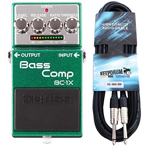 Boss BC-1X Bass Kompressor + keepdrum Gitarren-Kabel 3m