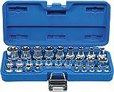 BGS 70099   Steckschlüssel-Einsatz-Satz E-Profil   Antrieb Innenvierkant 6,3 mm 1/4' / 12,5 mm (1/2')   SW E4 - E24   28-tlg.