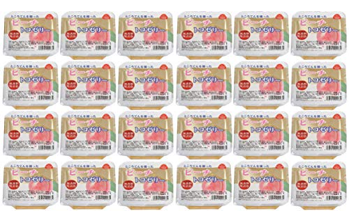 無添加フルーツゼリー トコゼリー(ピーチ)130g×24個 ★ 宅配便 ★ 美容と健康を考えた フルーツ「トコゼリー」は 寒天・天草(ところてん)を主原料とした 無香料・無着色の自然派食品です。
