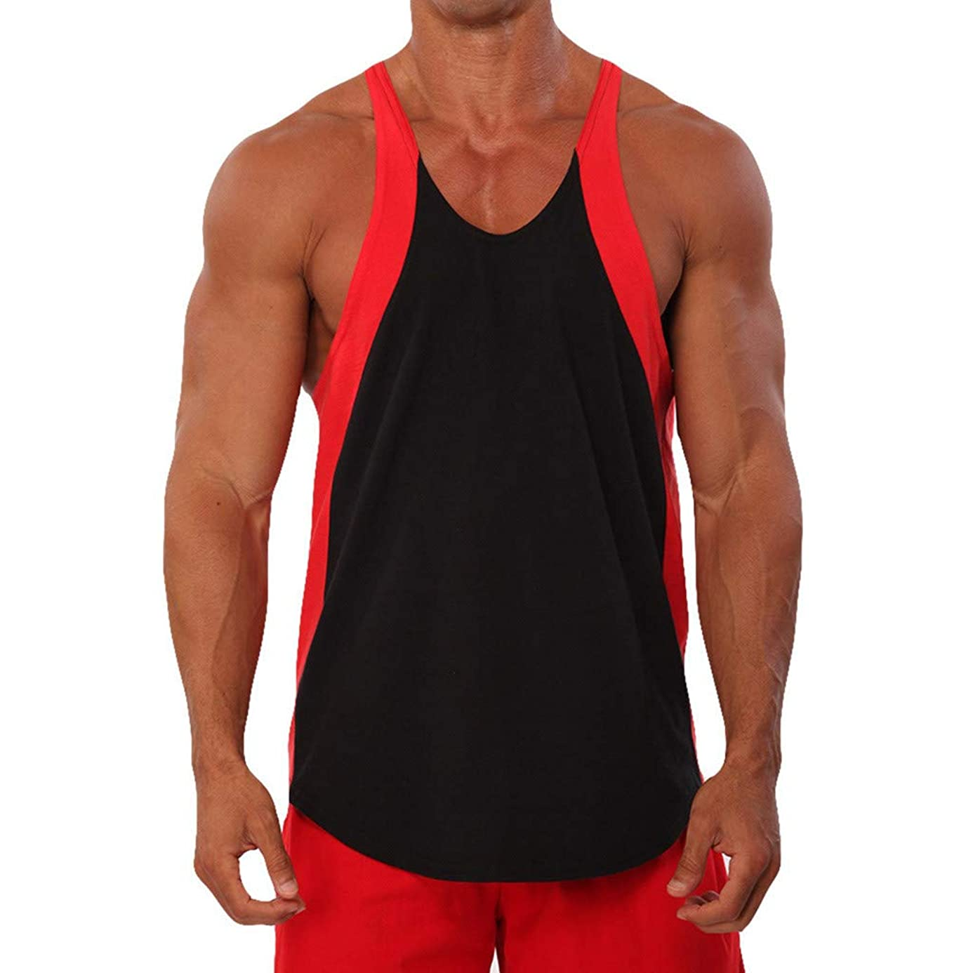Corriee Male Sport Vest Mens Tank Top for Bodybuilding Gym Athletic Training Shirts ggt7740853
