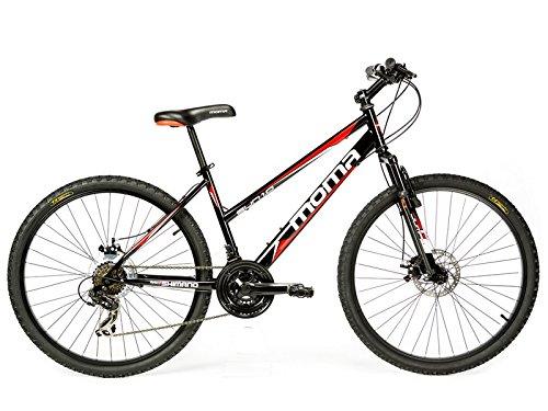 Moma bikes, BISUNNUN, Bicicletta Mountainbike 26', Unisex adulto, nero, Taglia unica