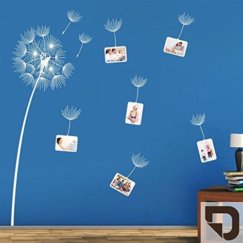 DESIGNSCAPE® Wandtattoo Fotorahmen Pusteblume HÖHE: 150 cm braun DW807219-M-F9