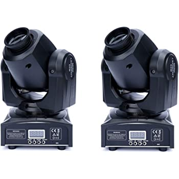 XPCLEOYZ 2Pcs 60W LED Moving Head Light with Remote 8 Gobo 8 Pattern Spotlight by DMX Controlled 9/11 Channel for Disco Club Party Stage Lighting Shows (2PCS)