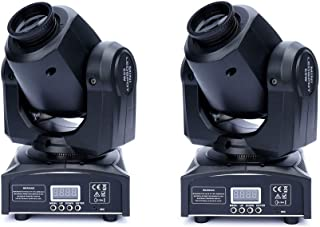XPCLEOYZ 2Pcs 60W LED Moving Head Light 8 Gobo 8 Pattern Spotlight by DMX Controlled 9/11 Channel for Disco Club Party Sta...