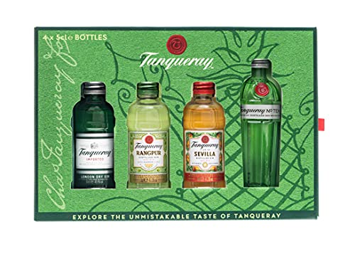 Gin Tanqueray Gift Pack com 4 unidades de 50ml