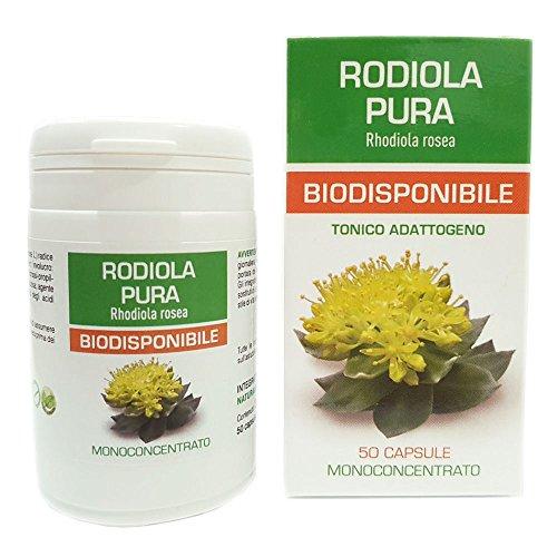 Rodiola Pura Biodisponibile Naturpharma 50 Vegan capsule da 5000 mg di Estratto Puro   Radice Estratto Secco Titolato al 4% in Rosavin