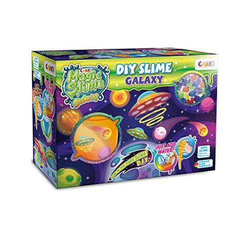 CRAZE Starter Crazy DIY Magic Slime Box Galaxy leuchtender Schleim zum Selbermachen Leuchteffekt 23150, tolle Effekte