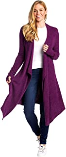 Women's Cozy Cloud Cardigan with Open Front and Draped Collar