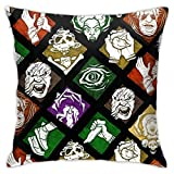 Woidxzxza Dead by Daylight Perks Square Pillowcase Case Throw Pillowcase Sofa Cushion Car Cushion Indoor Decorations Chair Pillowcase