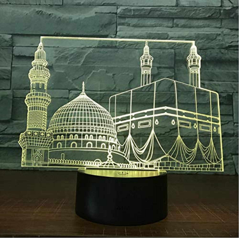 Lampe des Tempel-Schloss-Palast-3D Lampe 7 führte Nachtlampen Nachtlampen Nachtlampen für Kinder Note geführte Usb-Tabelle Lampara-Lampe Babyschlafennachtlicht B07L62SJV8  | Vollständige Spezifikation  a48317