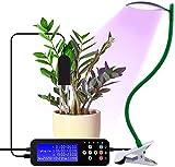 Kutuspon Soil Moisture Meter Detection, Plant Growth Light USB led Full Spectrum Suitable for Indoor Plants with Timer, Adjustable gooseneck and Desktop Clip 3 Switch Modes, 5 Brightness Settings